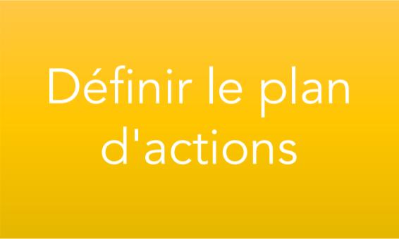 Définir le plan d'actions